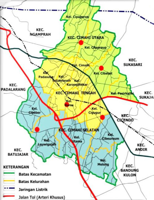 Peta Geografi Kota Cimahi